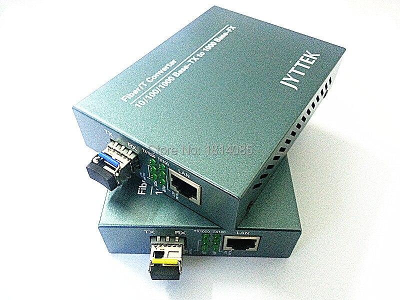 Free Shipping 1000Mbps SFP Media Converter Singlemode Singlefiber Gigabit Transceiver 60KM LC port Industrial transceiver