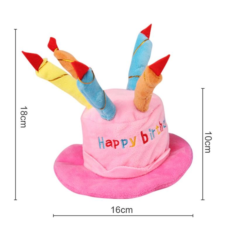 Pet Cat Dog Birthday Caps Hat With Cake Candles Design Party Costume Headwear Accessory Goods For Dogs In From Home Garden On
