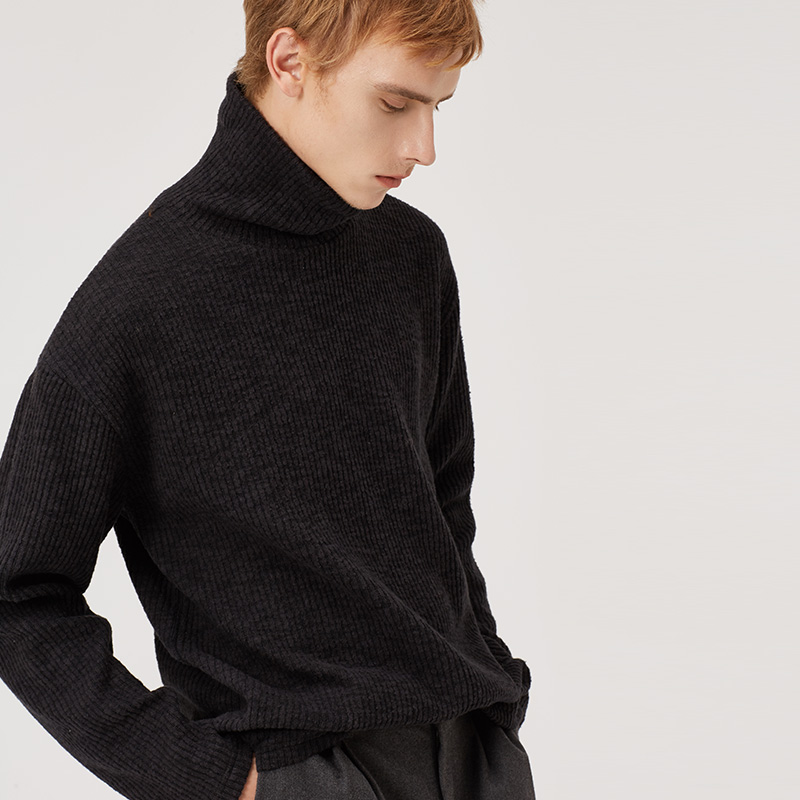 Markless Pullover Turtleneck Sweaters Men sueter hombre 2018 Autumn Warm Comfortable Sweaters Slim Fit pull homme 8605