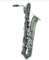 New E Flat Baritone Saxophone Black Nickel Surface Professional Brass Musical Instruments Sax Free Shipping