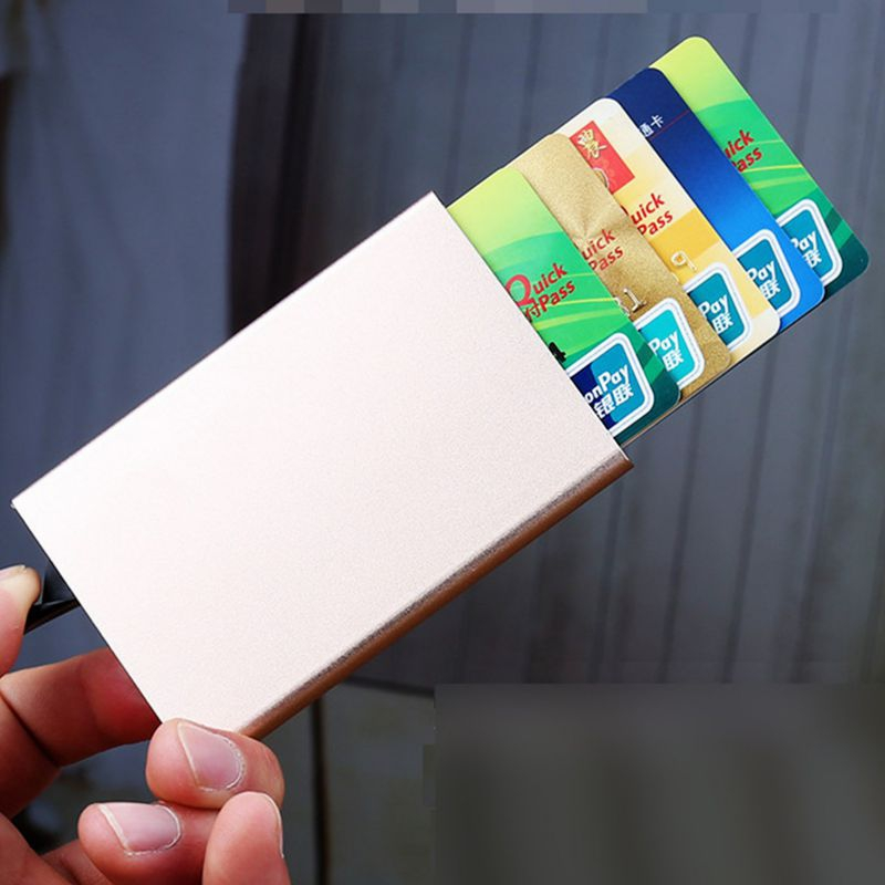 Vintage business aluminium credit card holder men women rfid vintage business aluminium credit card holder men women rfid blocking wallet slide out business card protector case in card id holders from luggage bags colourmoves