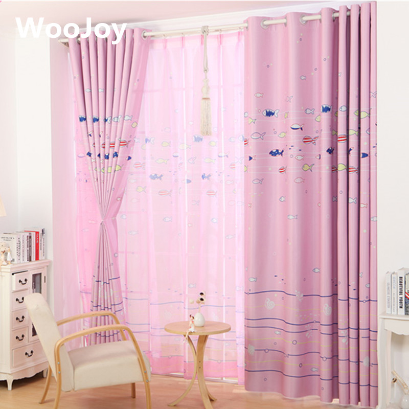 Blackout Fish Kids room curtains for baby room window curtain Panel ...