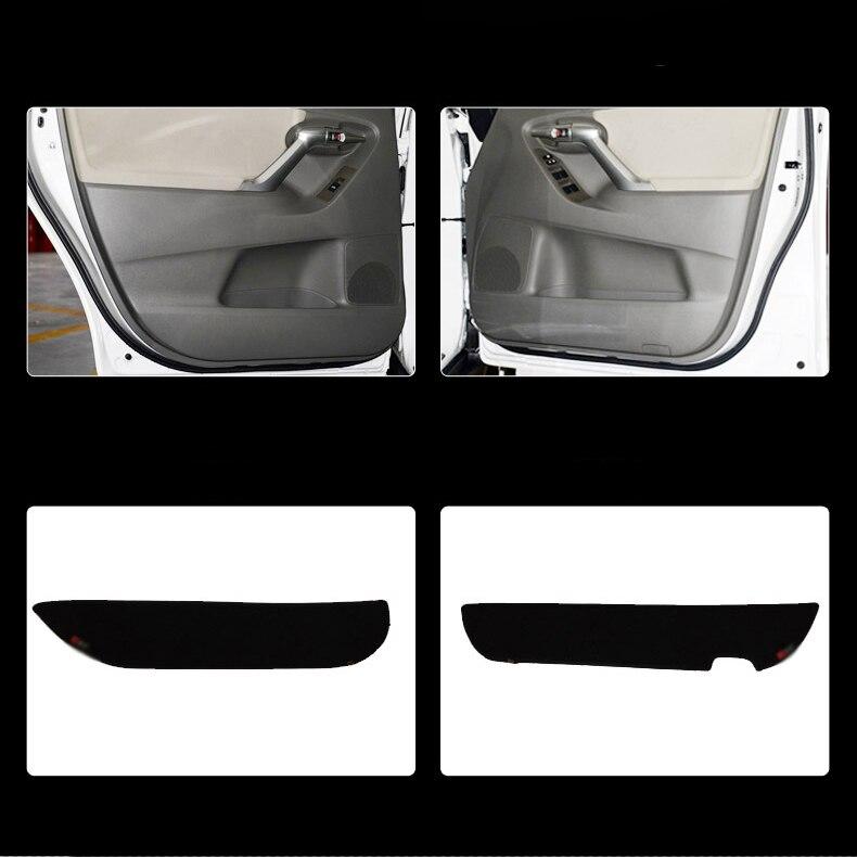 Ipoboo 4pcs Fabric Door Protection Mats Anti-kick Decorative Pads For Toyota Verso 2012-2015 4pcs blade side windows deflectors door sun visor shield for toyota verso ez 2011 2014