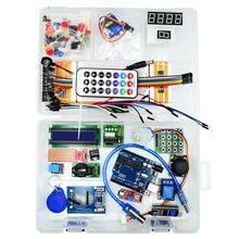 עבור Arduino RFID החדש Starter Kit UNO R3 משודרג גרסה חבילת למידת עם תיבה הקמעונאי לשלוח הדרכה חומרים