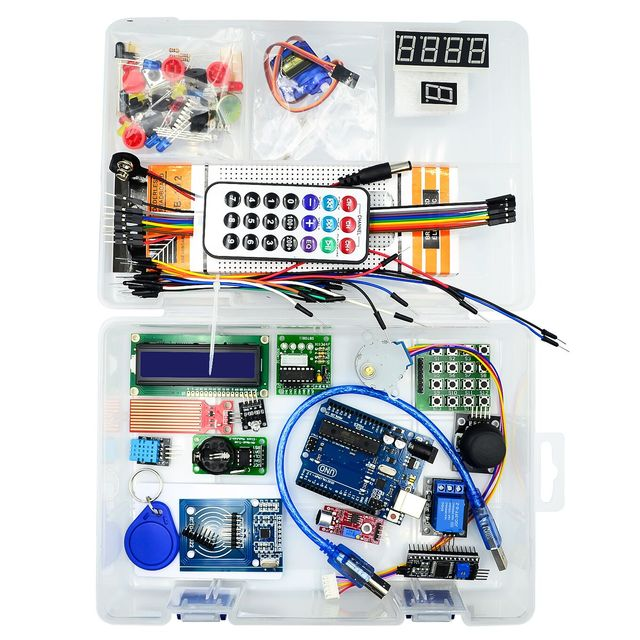 For Arduino NEWEST RFID Starter Kit UNO R3 Upgraded version Learning Suite With Retail Box Send tutorial materials