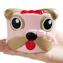Jumbo Dog Cake Squishy Kawaii Simulation Animal Bread Scented Squeeze Toy Soft Slow Rising Anti Stress Original Package Kid Gift