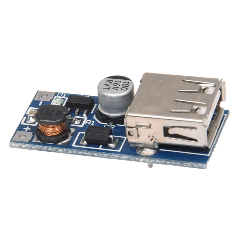 DC-DC 0.9-5V 600MA Voltage Step Up Boost Module USB Charger Blue