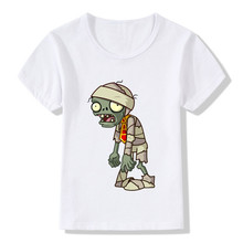 Children Plants Vs Zombies Printed Funny T-Shirts Kids Summer Tops Short Sleeve Clothes Baby Girls/Boys Casual Game Tees,HKP2140