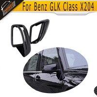 Substituição De Carbono Tampa Espelho Lateral Do Carro Para Mercedes Benz Classe GLK X204 2012 2013 2014 2015 2016 Cromo Branco