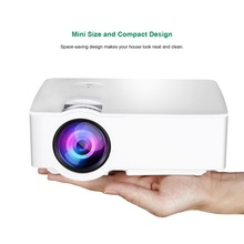 E08S Mini Portable Projector 200 Lumen 800 x 480 Full HD LED Video Home Cinema IR Remote Control Wired Same Screen