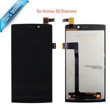 For Archos 50 Diamond Full LCD Display Touch Panel Touch Screen Digitizer Assembly Screen LCD Free Tools(China)