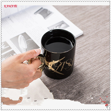 1Pcs Personalized Scissors Mug Creative Gold Handle Ceramic Cup Office Water Cup Home Coffee Mug Classic Coffee Cup 6DZ258
