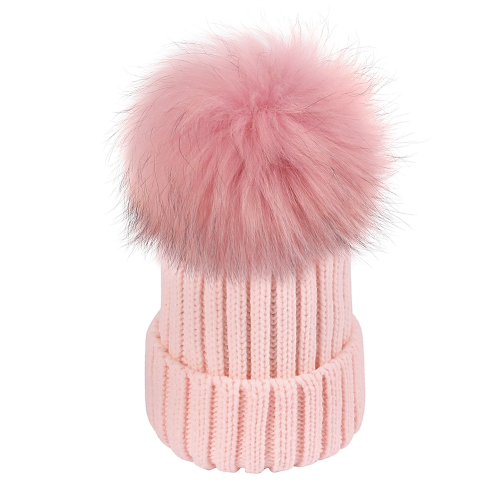 Women Winter Hats Beanie Fashion Warm Crochet Knit Thick Hat Autumn Fox Fur Pompons Bonnet Mink Pompoms Hat for Female Lady Girl foreign trade explosion models in europe and america in winter knit hat fashion warm mink mink hat lady ear cap dhy 36