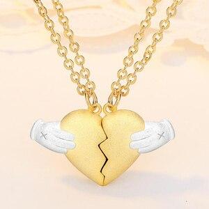 Магнитная Адсорбция сердце Break ожерелье Дружба Пара кулон ожерелье Heartbreak для мужчин женщин Lovers BFF ювелирные изделия 2019New