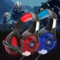 Each g1000 atualização gm-1 gaming headset fone de ouvido para ps4 xbox psp tablet pc laptop microfone cabo adaptador de cabeça levou luz