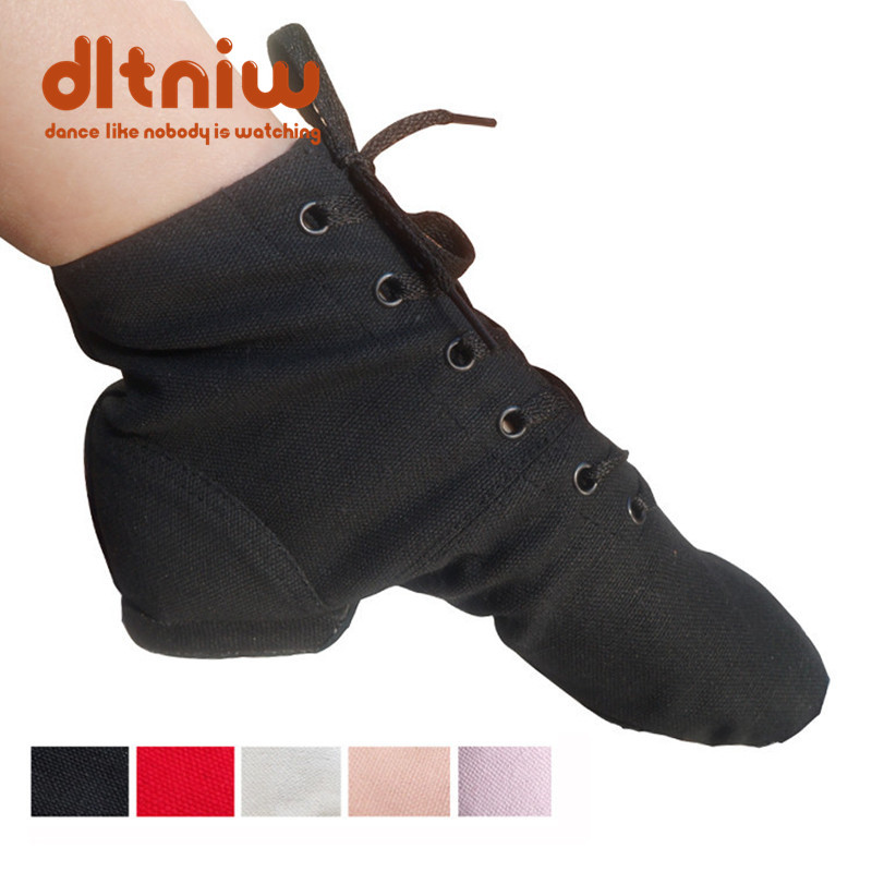 High Top Desinger Ballet Dance Shoes Split Heels Sole Shoe Black Red White Men Women Boys Girls Canvas Jazz Shoes
