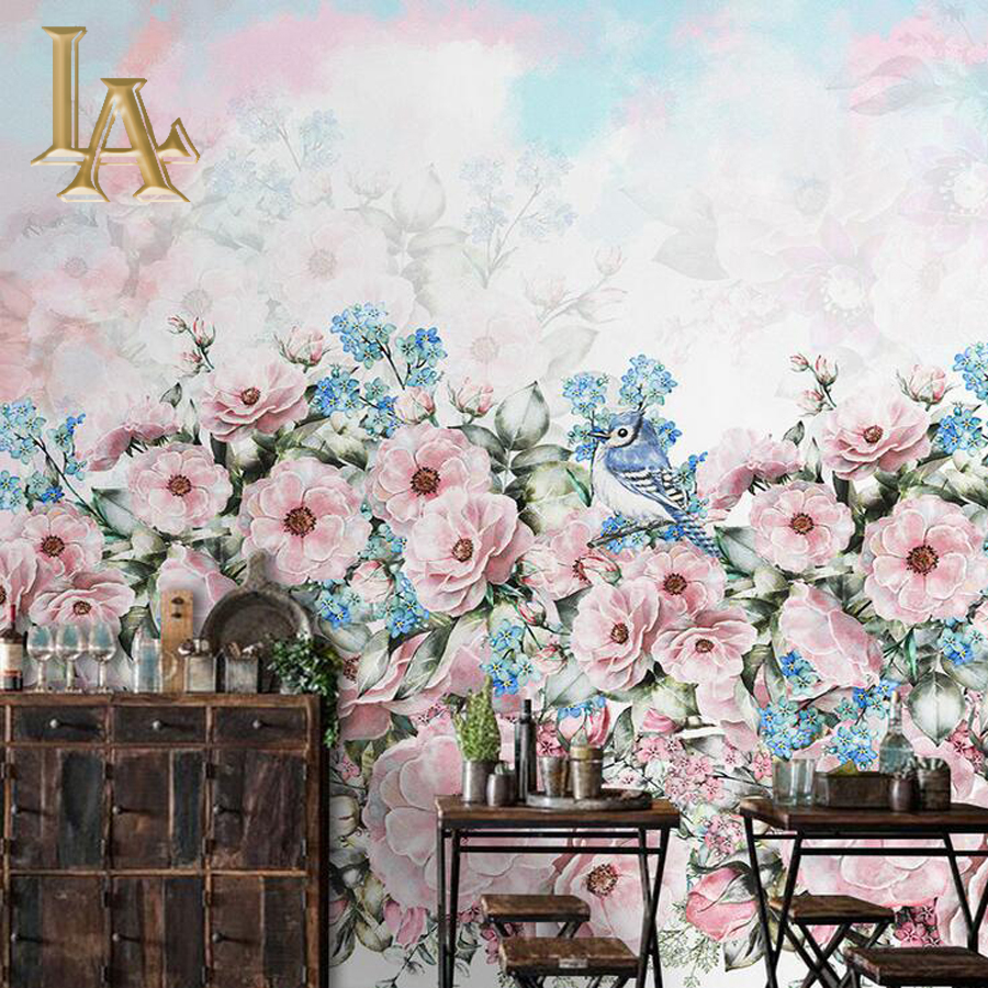 Customize Any Size 3D Art Painting Flower Bedroom TV Background Wall Paper Home Decor Living Room Non-woven Mural Wallpaper