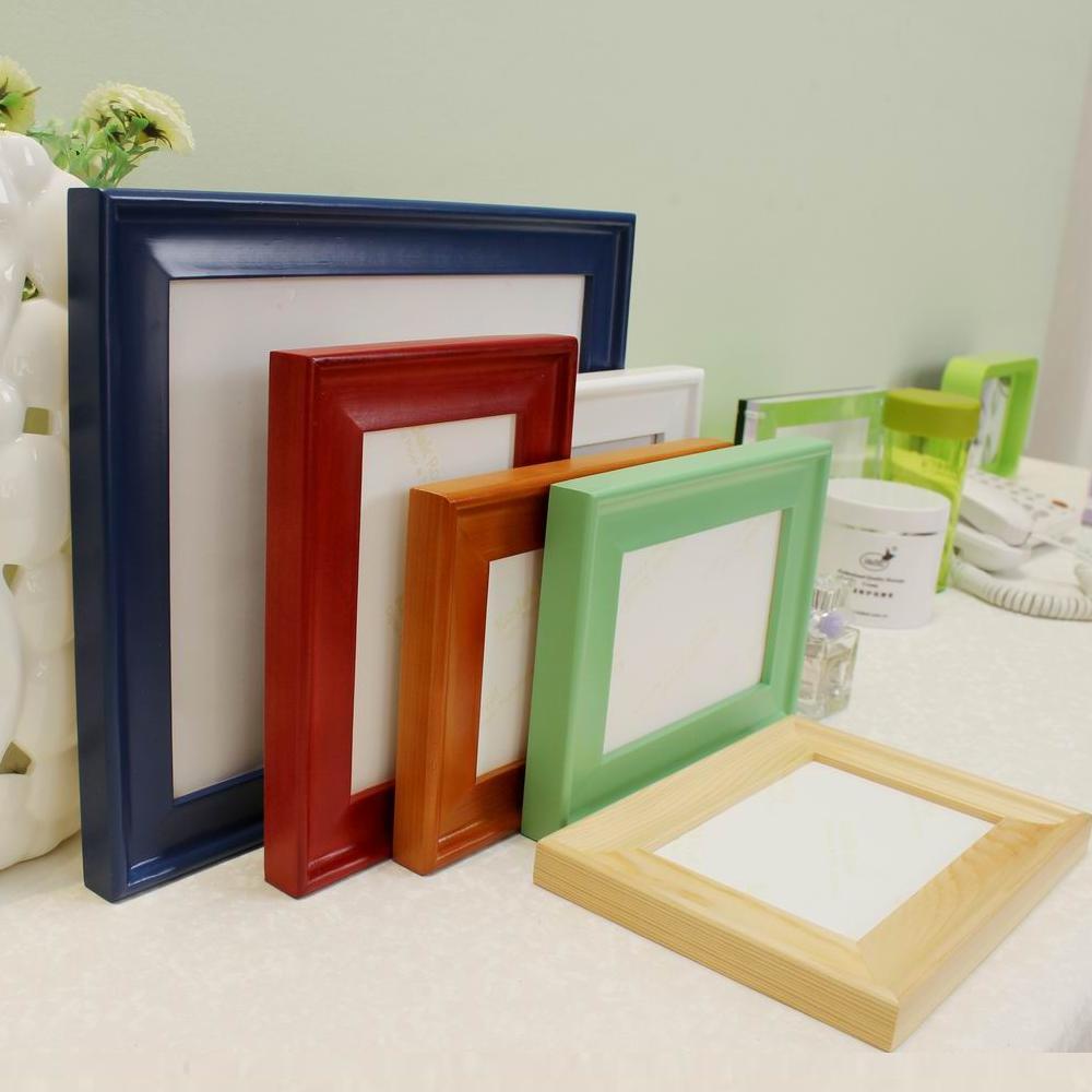 BLK 6 Farben Bilderrahmen Verschiedene Größen Holz Bilderrahmen ...