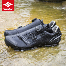Santic MTB Cycling Shoes Men Sapatilha Ciclismo MTB Shoes Self-Locking Mountain Bike Shoes Cycling Sneakers Black Bicycle Shoe
