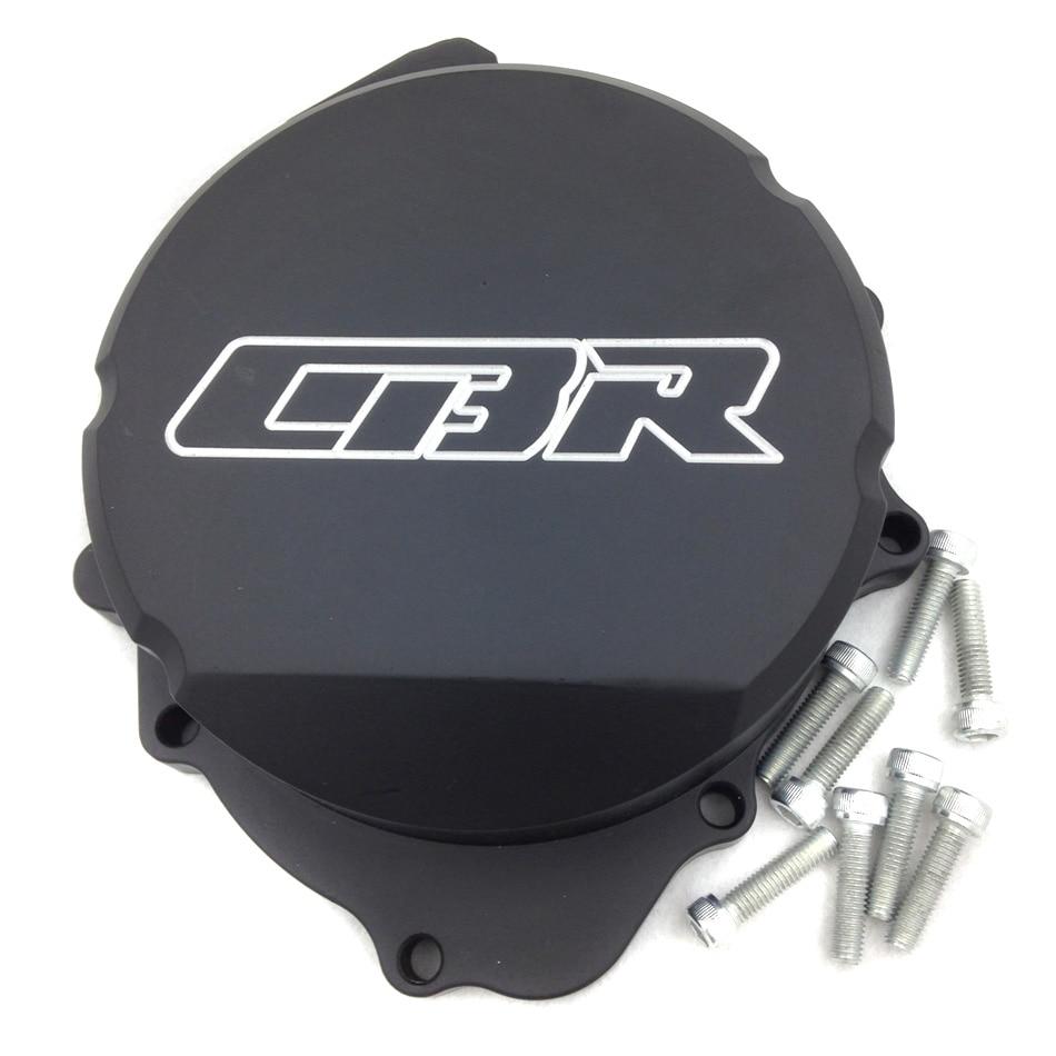 For Motorcycle Honda CBR600RR F5 2007-2012 07-12 BLACK left  Billet Motor Engine Stator cover meziere wp101b sbc billet elec w p