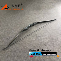 1PC 60inch American Hunting Bow Take Down Recurve Bow Right Hand Black Color Gift Arrow Rest 30 60bls Bamboo Limb Black Hunting