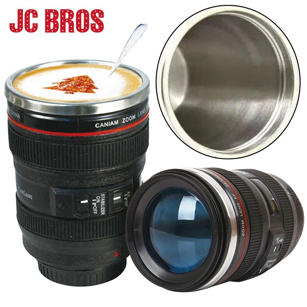 400 Ml Stainless Steel Lensa Kamera Berbentuk Termos Mug Dengan Lens Canon Ef Gelas Tutup Cangkir Kopi Teh Baru