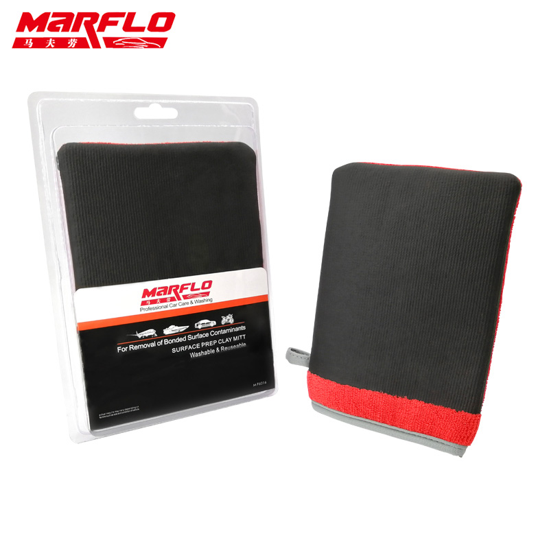 Marflo Mitt Washing-Gloves Clay-Bar Polish Car Detailing Auto-Care-Towel Clean-Cloth title=