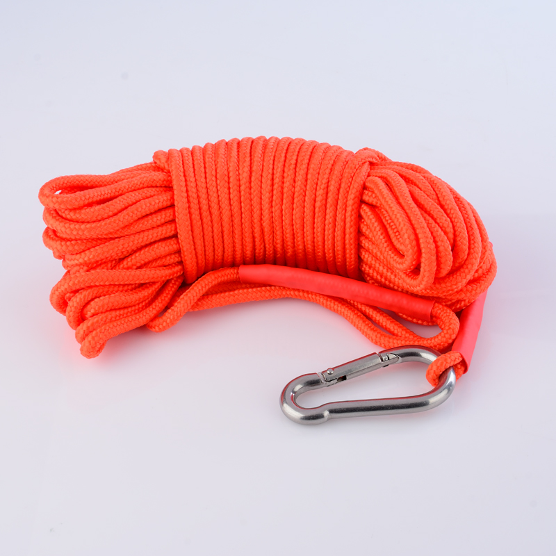 Caja de almacenamiento para senderismo, cuerda de seguridad, cuerda de tracción, carpa, cuerda de imán fija, cuerda de pesca con hebilla