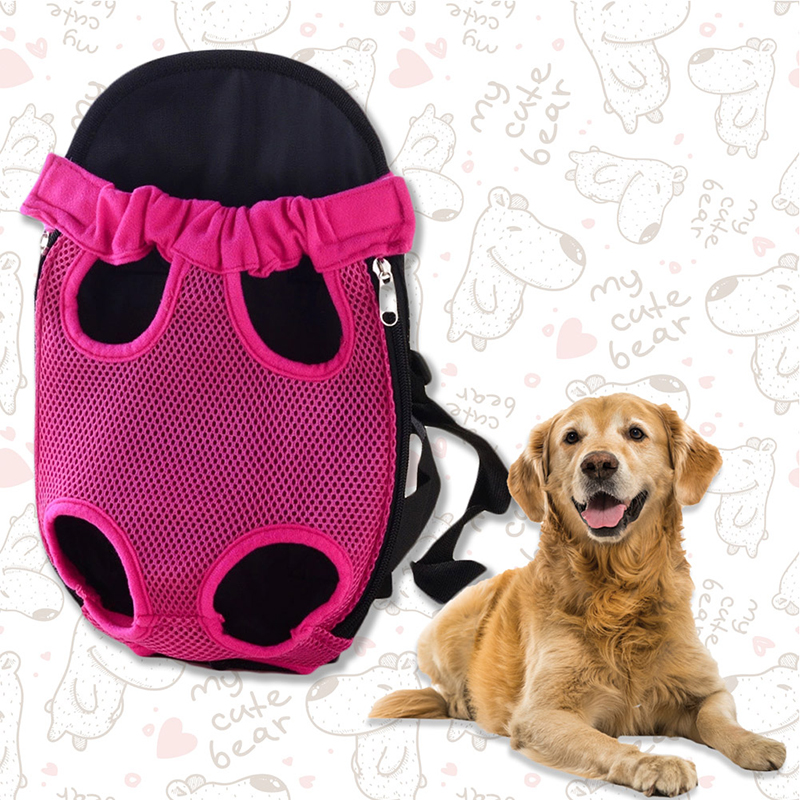 Pet Carrier Dog Front Chest Backpack Five Holes Backpack Dog Outdoor Carrier Tote Bag Sling Holder Mesh Cat Puppy Dog Carrier 6