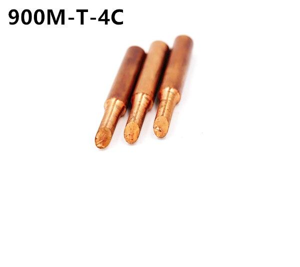 3piece  900M-T-4C Diamagnetic Copper Soldering Iron Tip Lead-free Solder Tip 933.376.907.913.951,898D,852D+ Soldering Station