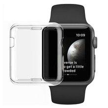 Seria 3 przypadku ochrony jasny kryształ pokrywa silikonowa dla Apple obserwować serii 2 3 ekran Protector przezroczyste fundas Coque 38mm