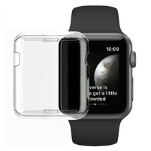 Series 3 Protection Case Clear Crystal Silicone Cover for Apple Watch Series 2 3 Screen Protector Transparent fundas Coque 38mm