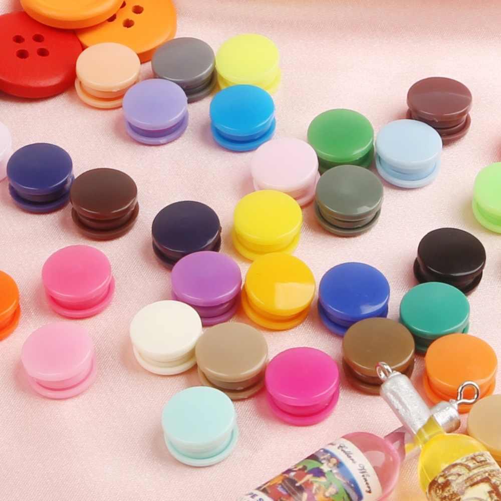 KAM T5 plastik Snaps düğmesi bağlantı elemanları 20/50/100/150 takım çantası klasörü koyu toka düğme reçine konfeksiyon aksesuarları için bebek giysileri