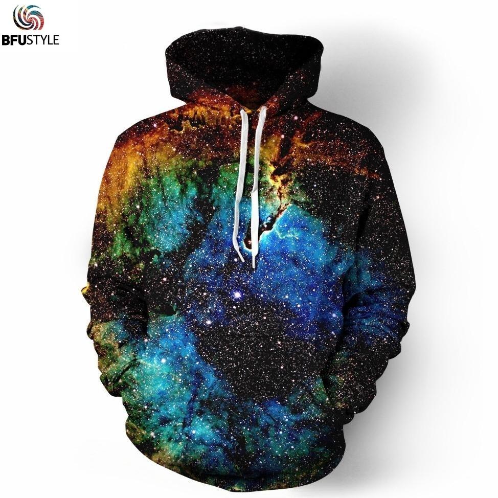 Space Galaxy Mens Hoodies 2019 Unisex Bluză Hoodie Îmbrăcăminte - Imbracaminte barbati