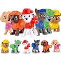 6 pçs/lote Patrulha Brinquedos Anime Figura de Ação Filme Juguetes Bonito do Filhote de Cachorro Do Cão set Brinquedos Para Crianças Presente Para Crianças