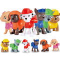 6pcs/lot Patrol Dog Anime Toys Action Figure Movie Juguetes Brinquedos Cute Puppy Toys set For Child Gift For Children