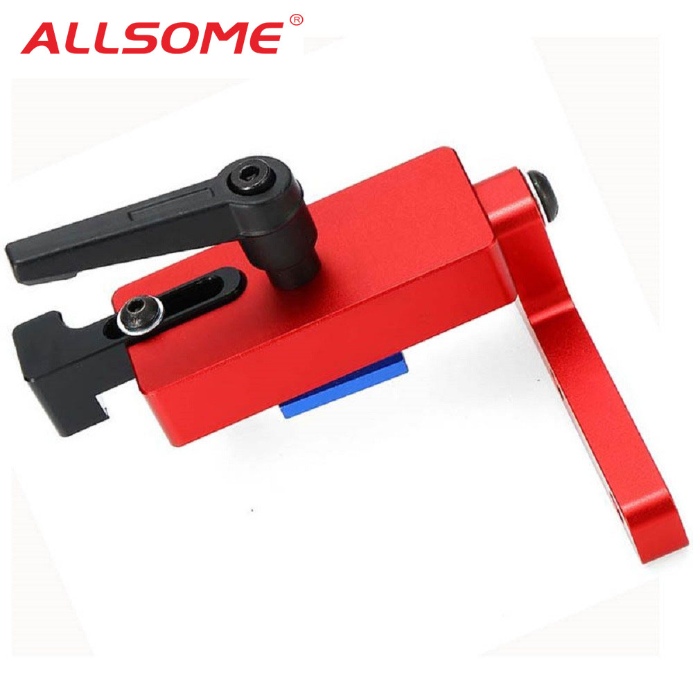 ALLSOME Miter Track Stop For 30mm/45mm T-track Woodworking Tool Parts HT1666