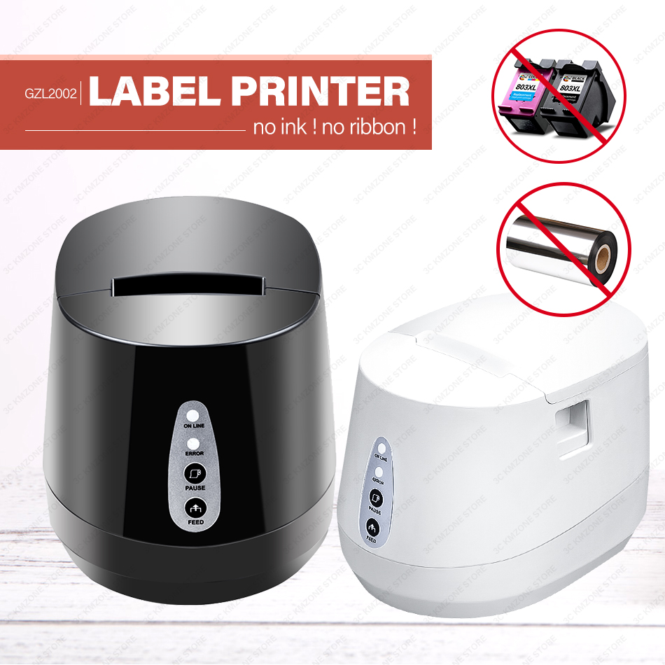 New thermal bar code QR code label printer 58mm high quality clothing tags supermarket price sticker printer wholesale brand image