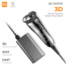 XIAOMI Soocas SO WHITE ES3 3D Smart Electric Shaver USB 3 Head Electric Razor Shaver LED Display Beard Trimmer Shaving Machine