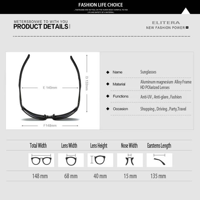 0591d692e21 ELITERA Aluminum Brand New Polarized Sunglasses Men Fashion Sun Glasses  Travel Driving Male Eyewear Oculos Gafas