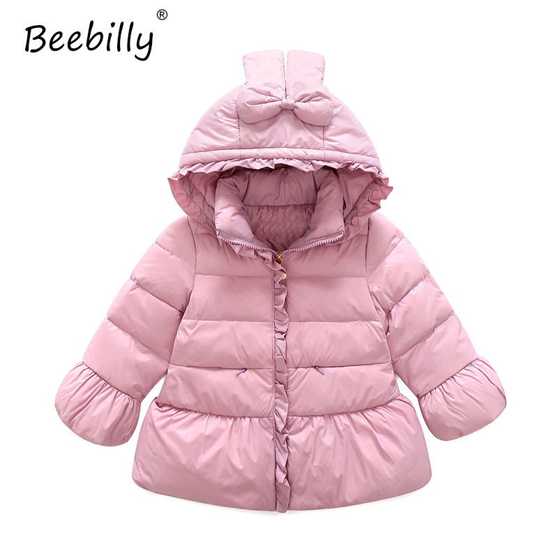 2017 Winter Jackets for Girls Cartoon Style Warm Duck Down Jackets Coats Girls Clothes Hooded Jacket for Girls Parkas Outerwear 2017 kids jacket winter for girl and coats duck down girls fluffy fur hooded jackets waterproof outwear parkas coat windproof