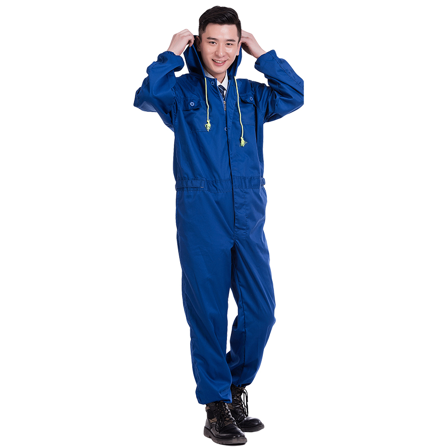 Men Women Work Clothing Long Sleeve Hooded Coveralls Dust-proof Anti-pollution clothes Painting Auto Repair Sets Overalls M-4XL new men overalls denim work clothing long sleeve hooded coveralls labor overalls for machine welding auto repair painting m 4xl