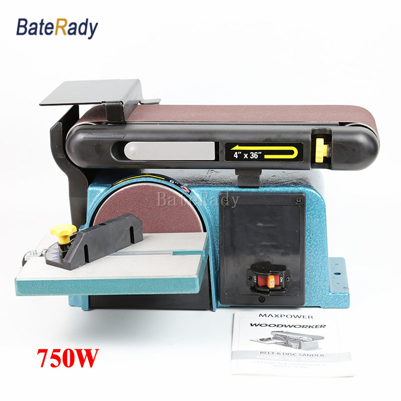 цена на BD4600 Belt&Disc Sander,Heavy duty sanding machine,750W strong power polisher/polishing machine,220V desktop Grinding machine