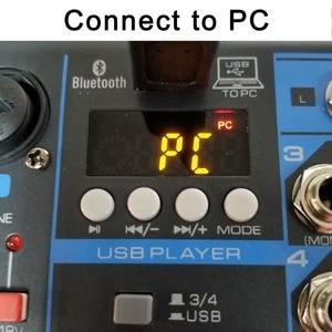 Image 4 - LOMOEHO AM 04 2 моно + 1 стерео 4 канала Bluetooth USB 48 В Phantom Профессиональный DJ аудио микшер