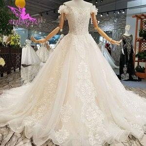 Image 1 - AIJINGYU Wedding Dres Russian Federation Lebanon Shanghai Plus Size Pakistani 2021 2020 Wedding Dresses and Gowns