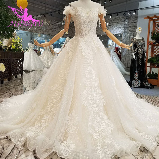 AIJINGYU Wedding Dres Russian Federation Lebanon Shanghai Plus Size Pakistani 2021 2020 Wedding Dresses and Gowns