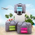 Bolsa de Viaje Plegable de Nylon Impermeable Bolsa de Viaje Unisex Bolsa de Lona Del Viaje Del Equipaje de Gran Capacidad de Las Mujeres Bolsos Plegables
