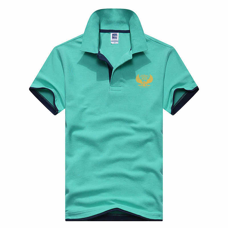 2019 Polo Casual Stand Collar Male Polo Shirt Mens Printed POLO Shirts Cotton Short Sleeve Camisas XS-XXXL New Brand Polos