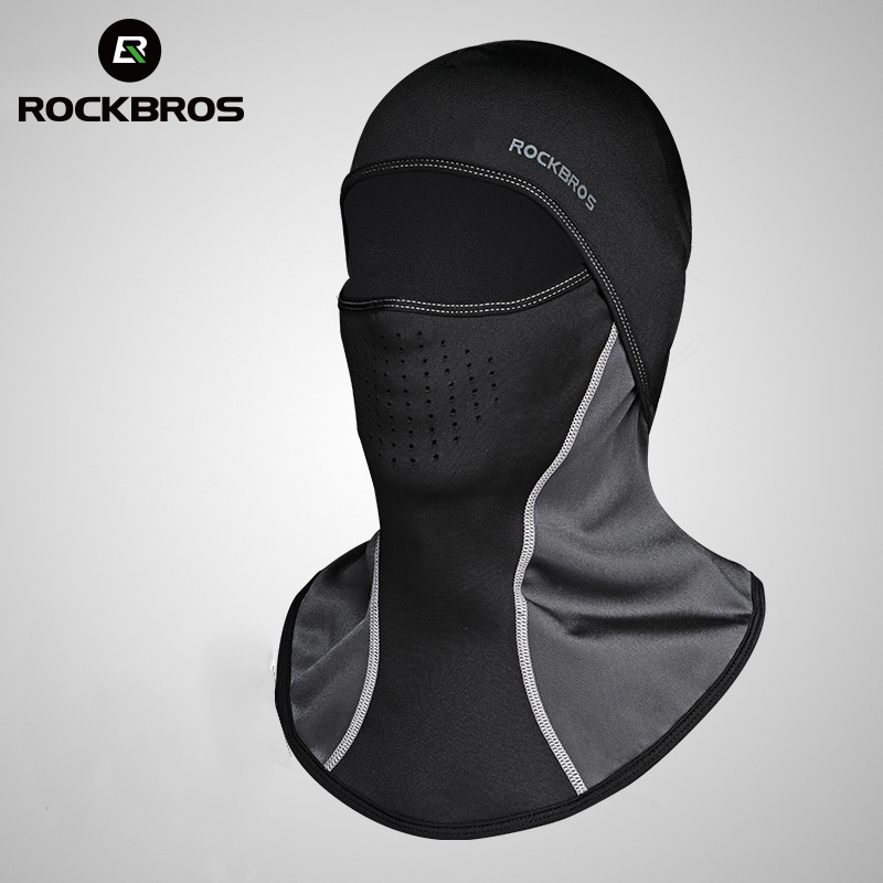 ROCKBROS Men's Bicycle Face Masks Winter Balaclava Cap Thermal Fleece Scarf Shield Outdoor Motorcycle Ski Bike Cycling Face Mask long keeper 10pc lot balaclava winter men women skullies face neck mask cap thermal winter cyling bike riding running hat