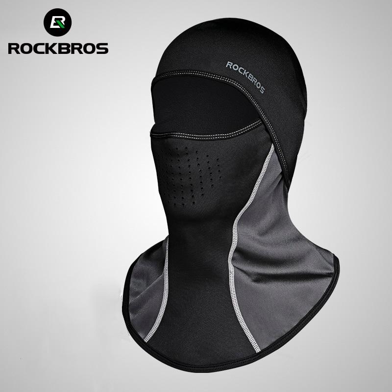 ROCKBROS Men's Bicycle Face Masks Winter Balaclava Cap Thermal Fleece Scarf Shield Outdoor Motorcycle Ski Bike Cycling Face Mask все цены